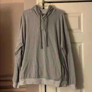 Chaps Gray Stripe Pullover Pocket Hoodie Size XXL